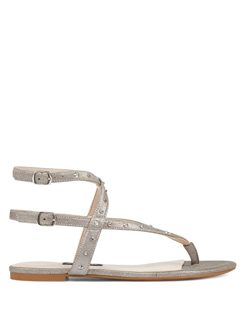 Nine West Bilekten Bağlamalı Sandalet Gümüş
